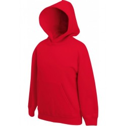 SC62043 - Kids Classic Hooded Sweat (62-043-0) FRUIT OF THE LOOM red