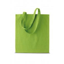 Ki0223 shopper met korte hengsels lime