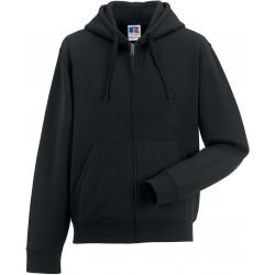 RU266M - Zip Hooded zwart