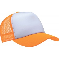 KP111 - Trucker white - fluo orange