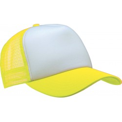 KP111 - Trucker white - fluo yellow