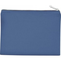 KI0721 - Tasje van canvaskatoen black/royal blue