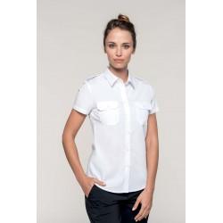 K504 - Damespilootoverhemd korte mouw