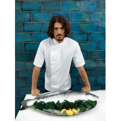 PR668 - Culinary' Pull-on Chefs Short Sleeve Tunic wit