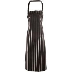 PR110 - Classic Stripe Bib Apron black/white