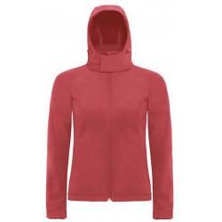 CGJW937 - Hooded Softshell Women red