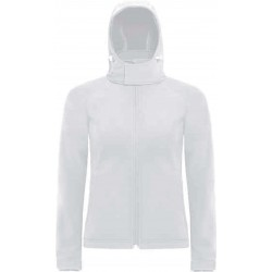 CGJW937 - Hooded Softshell Women white