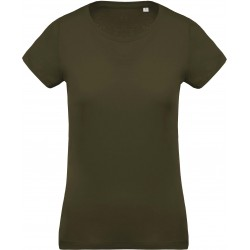 K391 Bio t-shirt dames mossy green