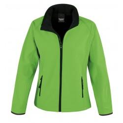 R231F - Core Ladies Printable Soft Shell RESULT groen-zwart