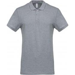 K254 - Piqué-herenpolo oxford grey