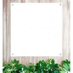 Blanco tuinposter