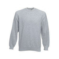 SC4 - Classic Raglan Sweat (62-216-0) FRUIT OF THE LOOM heather grey