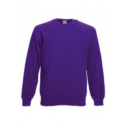 SC4 - Classic Raglan Sweat (62-216-0) FRUIT OF THE LOOM purple