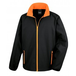 R231M - Core Printable Soft Shell RESULT zwart - oranje