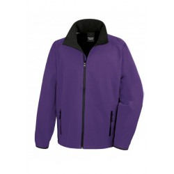 R231M - Core Printable Soft Shell RESULT purper - zwart