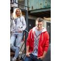 -30% nu 26.29 euro Kariban Damessweater met rits en capuchon in contrasterende kleur
